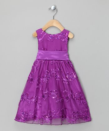 Purple Sequin Dress - Infant