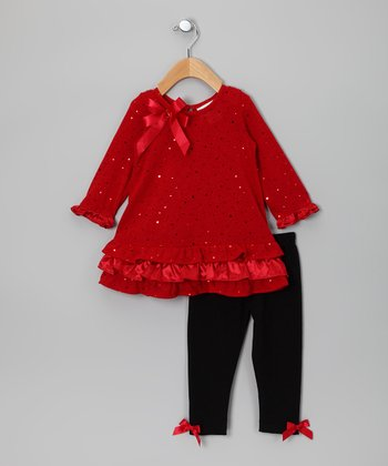 Red Sequin Tunic & Leggings - Infant & Toddler