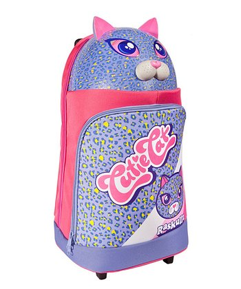 Raskullz Purple Cutie Cat Rolling Backpack