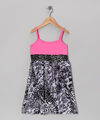 Pink & Black Leopard Dress - Toddler & Girls