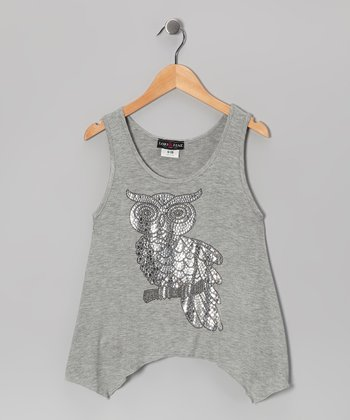 Gray Owl Tank - Girls