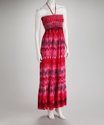 Pink Arabesque Tie-Dye Dress