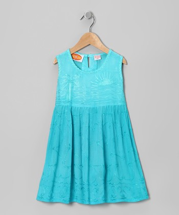 Teal Beach Dress - Toddler & Girls