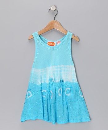Turquoise Dip-Dye Dress - Toddler & Girls
