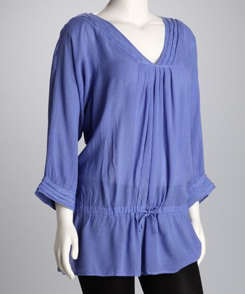 Periwinkle Plus-Size Drop-Waist Tunic