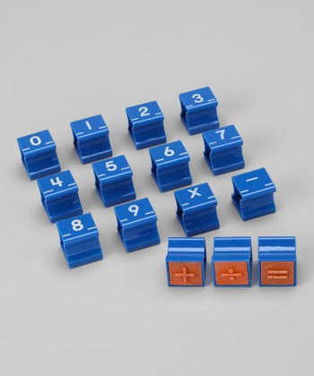 1'' Numbers & Signs Stamp Set
