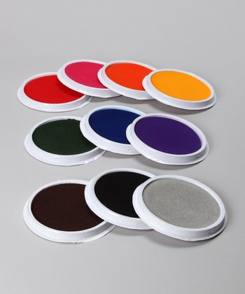 Circular Ink Pad Set