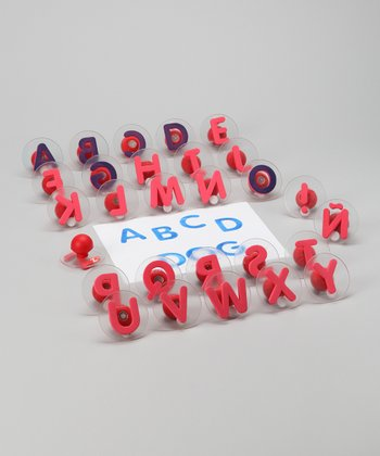 Uppercase Alphabet Letters Foam Stamp Set