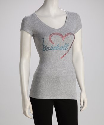 Light Gray 'I Love Baseball' Tee - Women & Plus