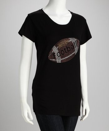 Black 'Football' Tee - Women & Plus