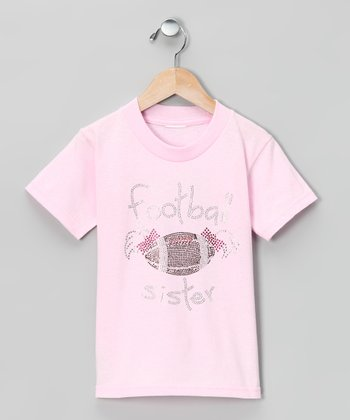 Pink 'Football Sister' Tee - Toddler & Girls