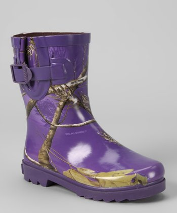 Purple Miss Jo Jo Rain Boot