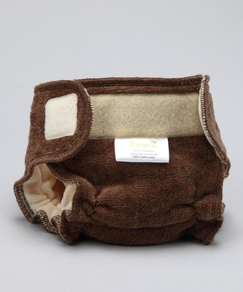 Brown Smitten Fitted Cloth Diaper