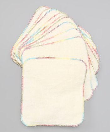 Rainbow Stitched Wipe - Set of 10