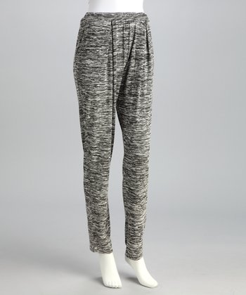 Gray Knit Tailored Lounge Pants - Women
