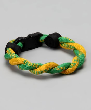 Green & Gold Fanwear Titanium Sports Bracelet