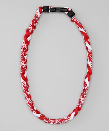 Red & White Fanwear Titanium Sports Necklace