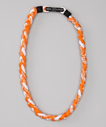 Orange & White Fanwear Titanium Sports Necklace