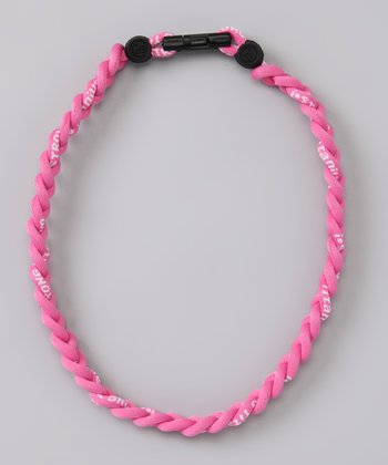 Pink Fanwear Titanium Sports Necklace
