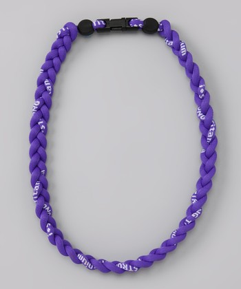 Purple Fanwear Titanium Sports Necklace