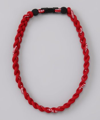 Red Fanwear Titanium Sports Necklace