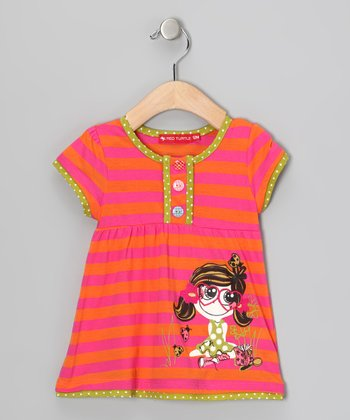 Pink Stripe Babydoll Top - Infant & Toddler