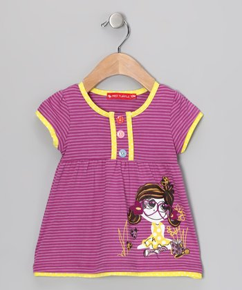 Purple Babydoll Top - Infant & Toddler