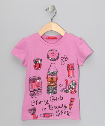 Pink 'Beauty Shop' Tee - Girls