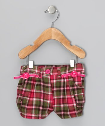Pink Plaid Shorts - Infant, Toddler & Girls
