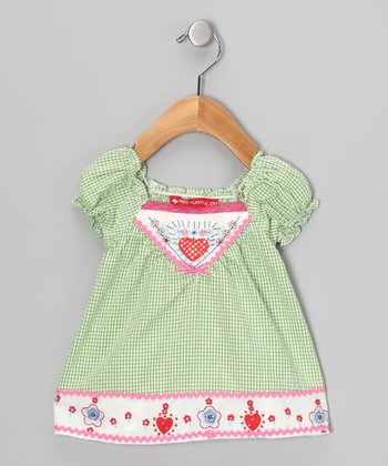 Green Gingham Dress - Infant & Toddler