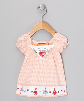 Orange Gingham Dress - Infant & Toddler