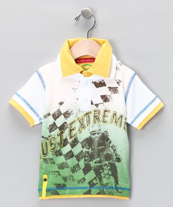 White & Yellow Double Polo - Infant, Toddler & Boys