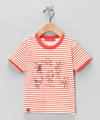Red Stripe Sketch Tee - Infant