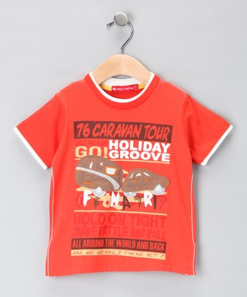 Orange 'Holiday Groove' Tee - Infant, Toddler & Boys