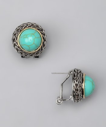 Turquoise Braided Band Earrings