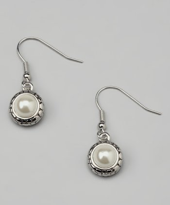 Pearl Pebble Earrings