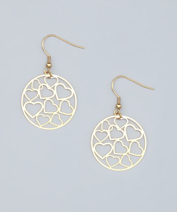 Gold Cutout Heart Earrings