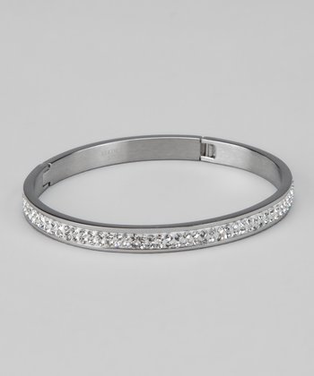 Stainless Steel & Crystal Bangle