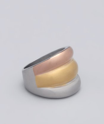 Metallic Stripe Ring