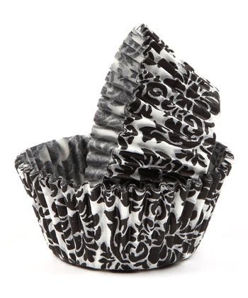 Black Damask Cupcake Liner - Set of 60