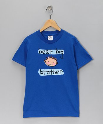 Blue 'Best Big Brother' Tee - Toddler & Boys