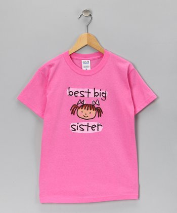 Pink 'Best Big Sister' Tee - Toddler & Girls