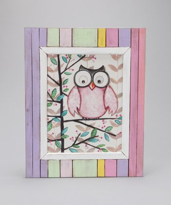 Pink Owl Wall Art