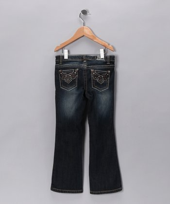Dark Wash Rivington Flare Jeans - Toddler & Girls