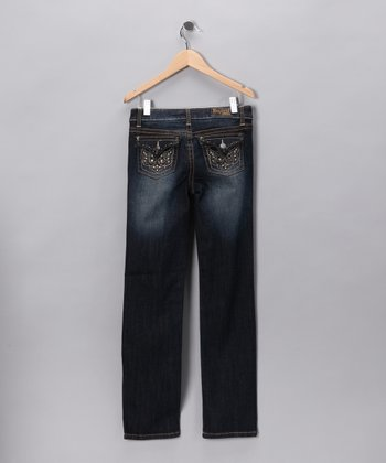 Distressed Gramercy Rhinestone Straight-Leg Jeans - Toddler