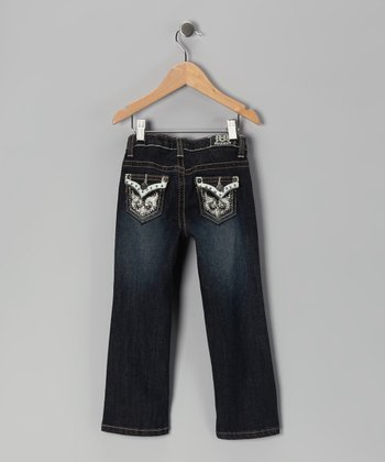 Blue Rhinestone Hampton Jeans - Toddler