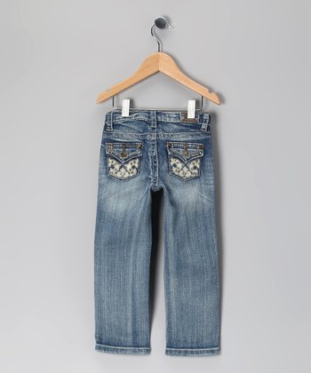 Blue Rhinestone Sable Jeans - Toddler