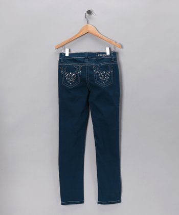 Ocean Blue Skinny Jeans - Toddler & Girls