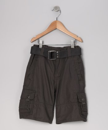 Gunmetal Cargo Shorts - Boys