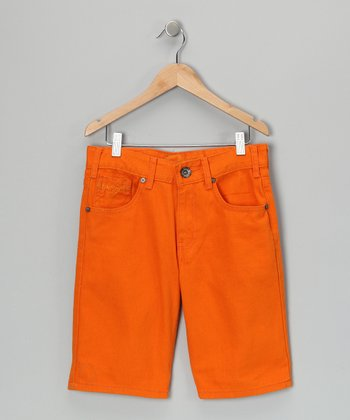 Orange Shorts - Boys